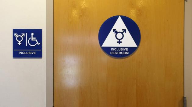 A gender-neutral bathroom is seen at the University of California, Irvine in Irvine, California September 30, 2014. The University of California will designate gender-neutral restrooms at its 10 campuses to accommodate transgender students, in a move that may be the first of its kind for a system of colleges in the United States.  REUTERS/Lucy Nicholson (UNITED STATES - Tags: EDUCATION SOCIETY POLITICS) - RTR48EXT