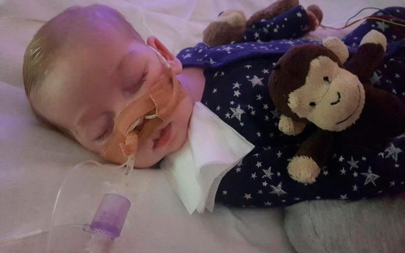 Charlie Gard, who was born in England with mitochondrial DNA depletion syndrome, is pictured in this undated family photo. The baby's parent, Chris Gard and Connie Yates, have lost their legal battle to keep Charlie on life-support and seek treatment for his rare condition in the United States. (CNS photo/family handout, courtesy Featureworld) See ACADEMY-BABY-LIFE-SUPPORT June 29, 2017.