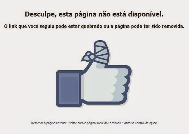 bloqueio no facebook